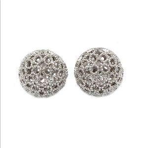 Pierced ball earrings